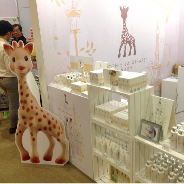 Sophie la girafe Cosmetics at Amarin Baby and Kids Fair at Bitec Bang Na in Thailand #sophielagirafecosmetics #sophielagirafe #sophiethegiraffe #thailand #babykids #ecocert #certified #natural #organic #skincare