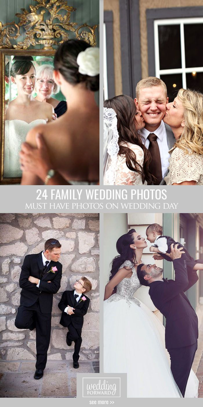 24 Must Have Family Wedding Photos ❤ Share what they mean to you, making special, cute and super emotional family wedding photos with mother, father, children, sister, etc. See more: http://www.weddingforward.com/family-wedding-photos/ #wedding #photos #family