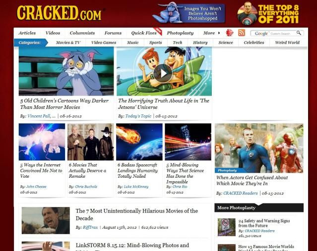 Top 5 Funny Sites To Read Every Day: Cracked