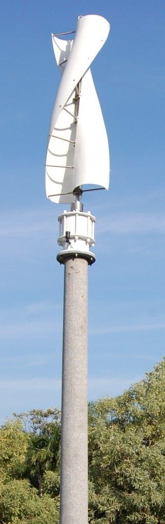 Vertical wind turbine. It works from any direction. I'd have several.