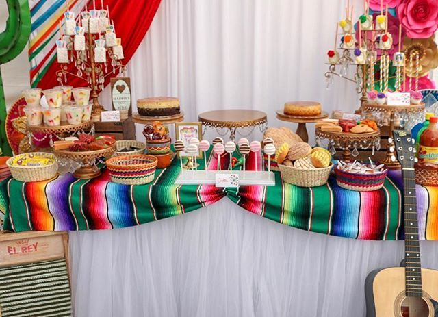 Sylvia S Heavenly Events On Instagram Mexican Fiesta Themed Dessert Table Fiesta Me Mexican Dessert Table Mexican Party Theme Dessert Table Birthday