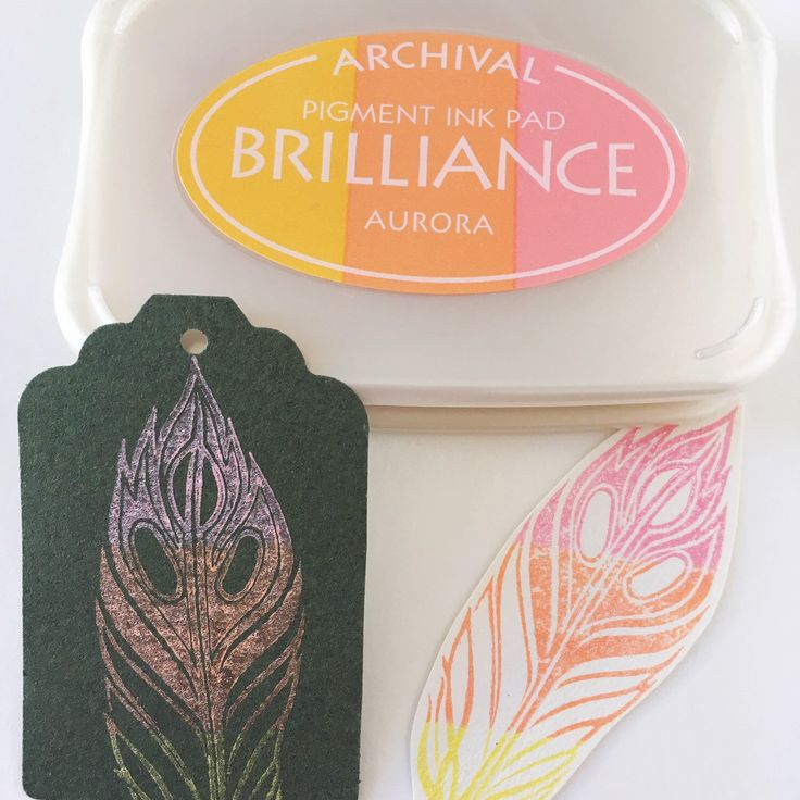 Stamping in dark paper with Aurora Brilliance rainbow style. The colors are very different than stamping on white, the metallic sheen is more visible. Gorgeous!