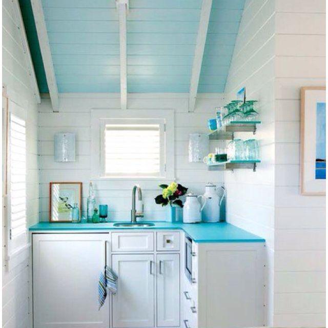 Small Beach House Kitchens: Small Kitchen- Beach House
