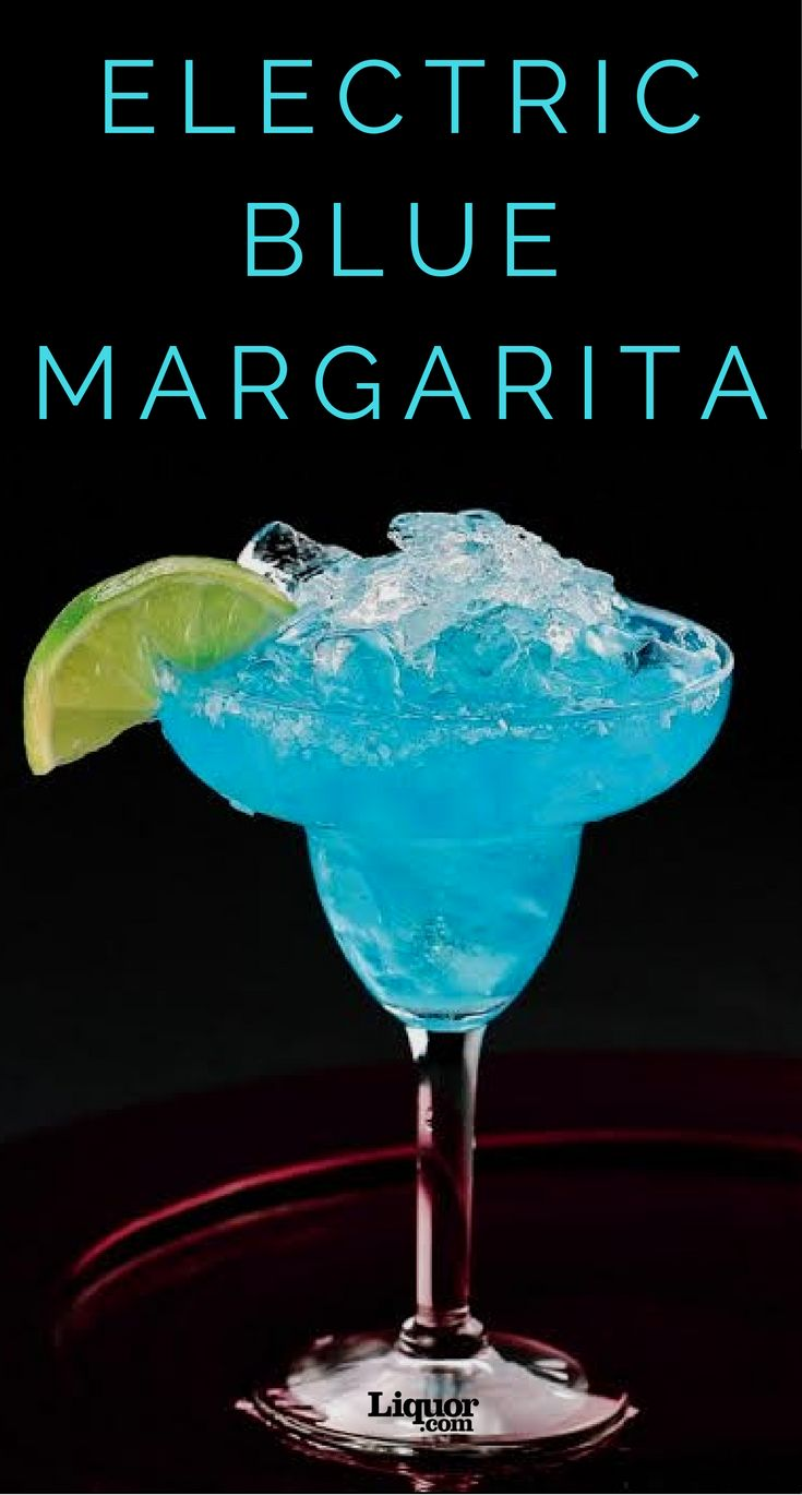 The Moonlight Electric Blue Margarita is a True Blue Showstopper! Swap in blue curaçao for the usual triple sec and you've got a gorgeous twist on a classic #Margarita