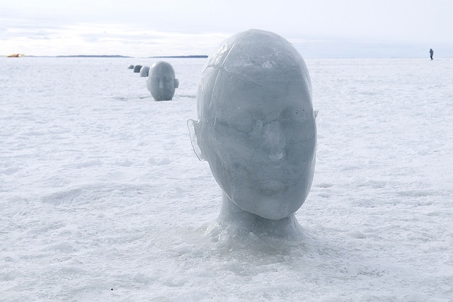 Ice Heads by Barrie Artist Amy Switzer. Ice Follies Lake Nipissing, North Bay Ontario