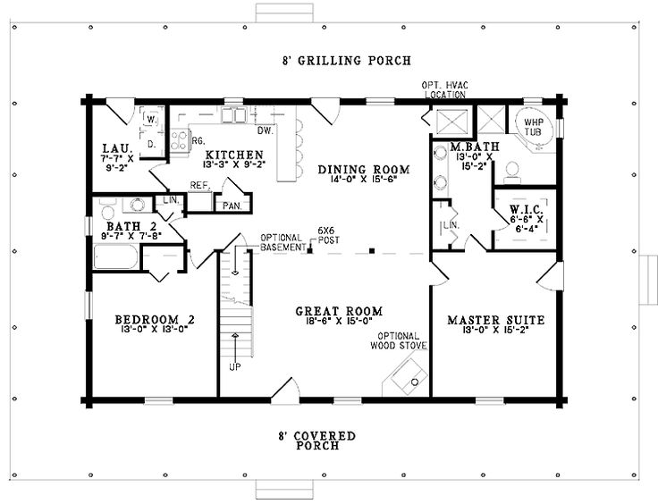 gallery for simple one story 2 bedroom house plans