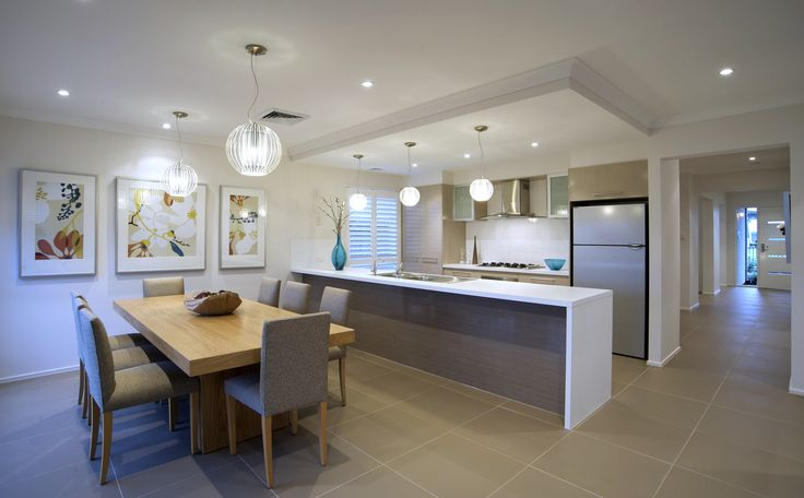 Gourmet kitchen / spacious dining area  #kitchen #cooking #family #living #interiordesign #dining