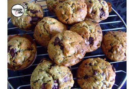 Muffins Vegan Banane Chocolat ! un delice !