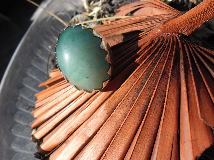 Anillo de plata Cuarzo verde. Natalia Cruz Abarca