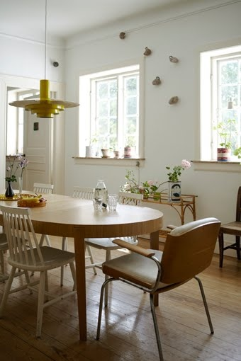 dining room mismatched chairs