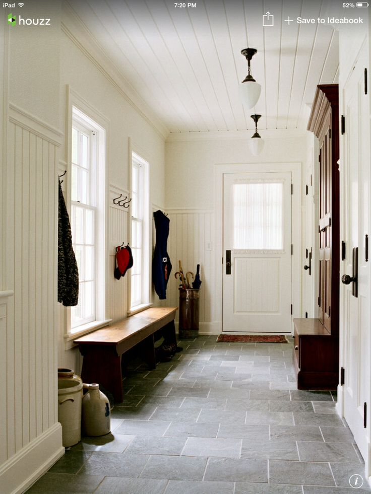Black And White Mud Room Tile