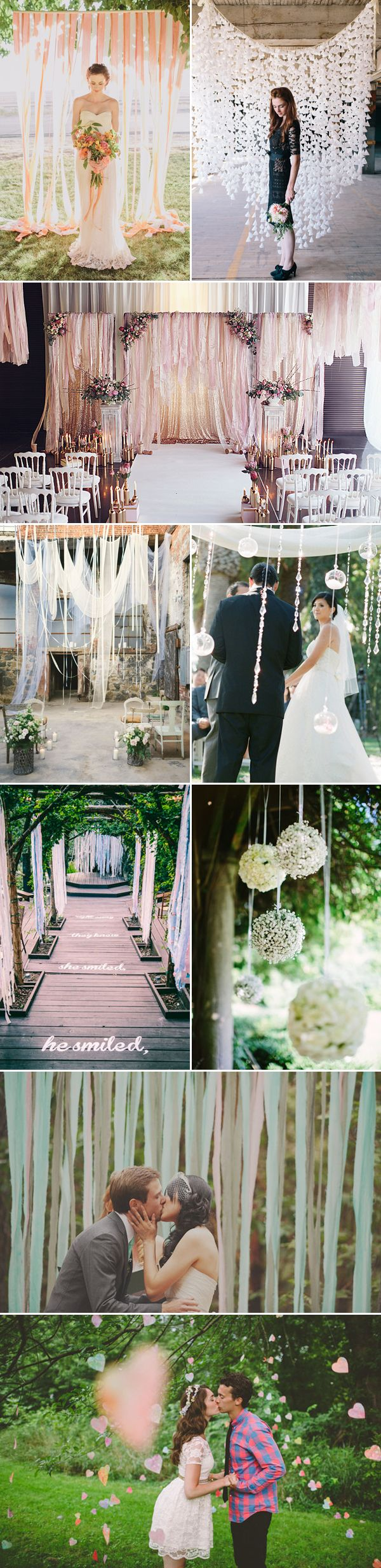 25 Creative Ceremony Backdrop Ideas - Romantic/ telon de fondo