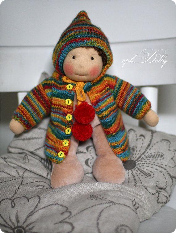 Cute Baby Victor handmade waldorf doll for boys от SpbDOLLY