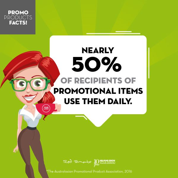nearly 50% of recipients of promotional items use them daily