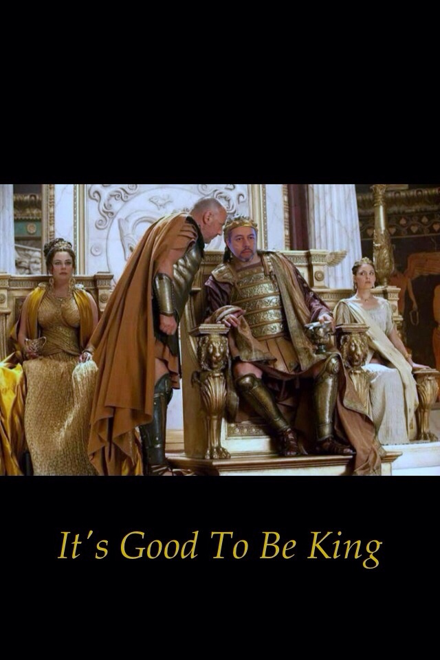 It's real good to be King !