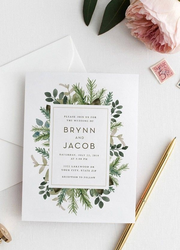 Top 10 Wedding Invitations We Love From Etsy For 2018 Wedding