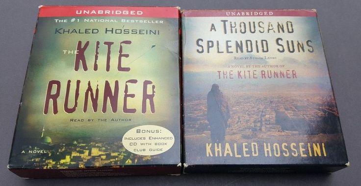 2 Audiobooks on CD Khaled Hosseini Kite Runner and A Thousand Splendid Suns