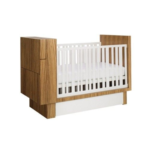 Studio Crib with changing table folded
