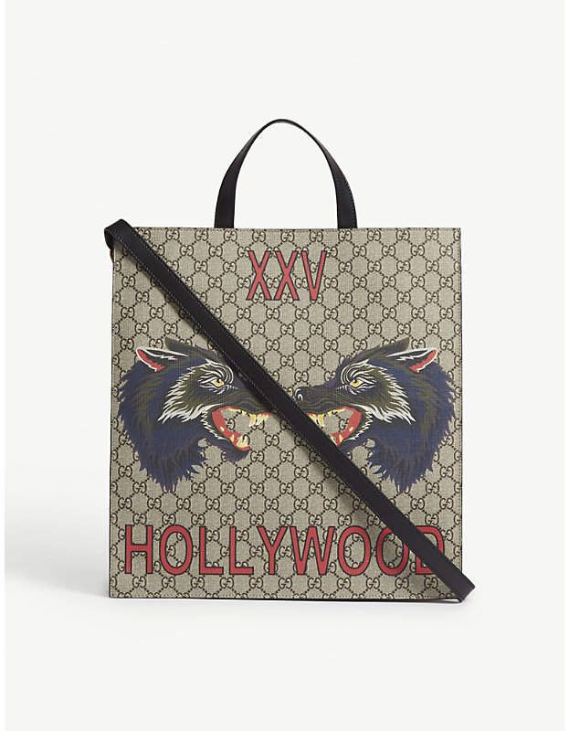 3479a2cc23 Gucci Bestiary wolf leather tote | Leather totes, Gucci and Wolf