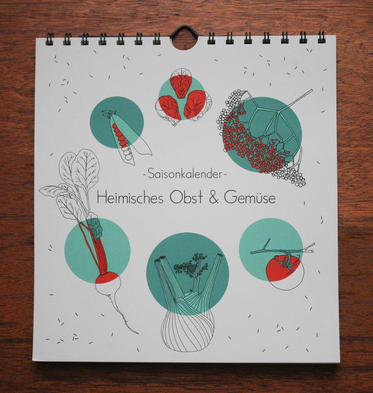 Saisonkalender - Heimisches Obst & Gemüse - polypodium - graphic design - illustration -  www.polypodium.net