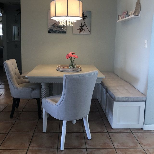 Corner Bench Set Shaker Banquette Bench Top Opening Storage Bench Breakfast Nook Painted Wood Corner Dining Table Booth Seating In Kitchen Dining Room Corner