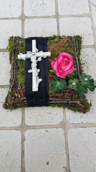 Pflanzschalen - Trauerfloristik, Grabgesteck, Grabaufleger, Rosen - ein Designerstück von Die-Deko-Idee bei DaWanda
