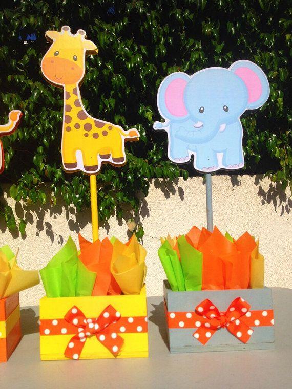 Jungle Safari Baby Shower Birthday by uniqueboutiquebygami on Etsy