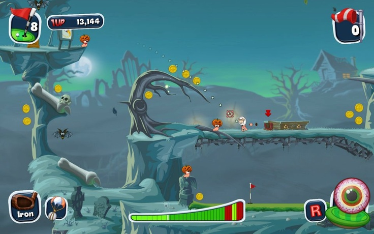 Graveyard Course #worms #team17 #wormsteam17 #ps3 #pc #ios #golf #wormscrazygolf #videogame #game #games #computergame