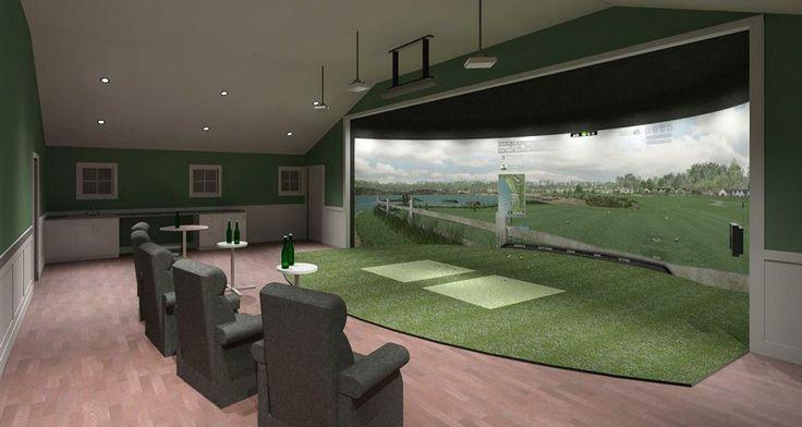 Golf simulators google search golf for Indoor golf design