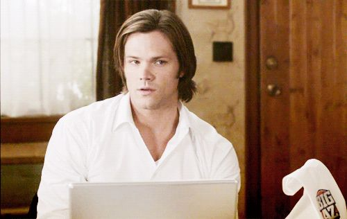 Cuz yes u must have a GIF of Sam winking at you! *because *you