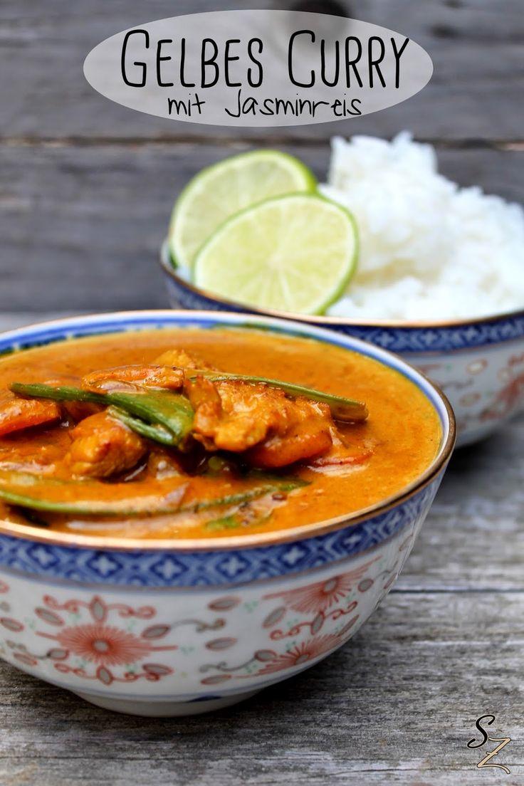 Schokokuss und Zuckerperle: Gelbes Curry mit Jasminreis