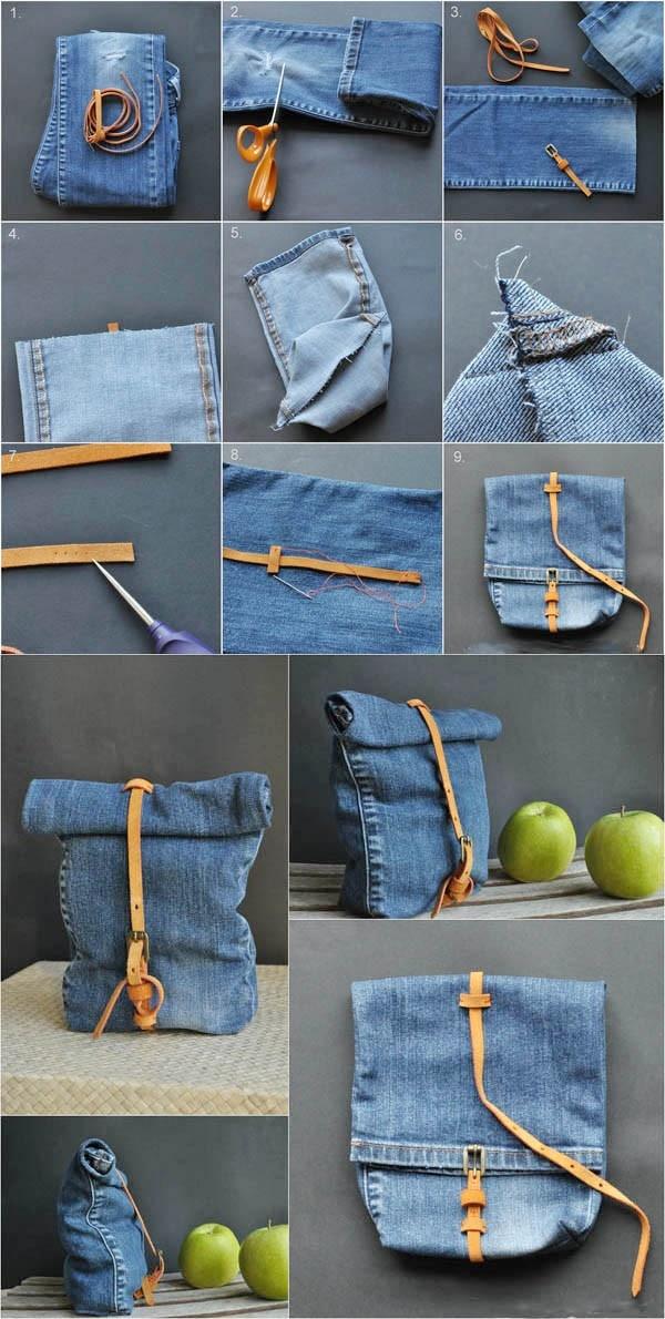 Túi xách tiện dụng được chế từ đồ cũ 2
