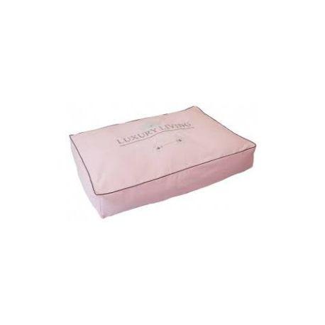 ALMOHADA LUXURY LIVING, rectangular de color rosa y bonito diseño. Para perro mediano-grande. http://bit.ly/1JONO8p