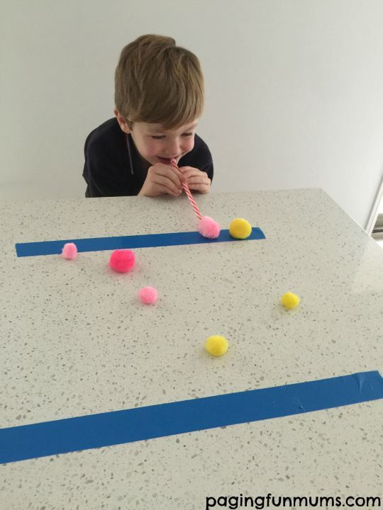 Pom Pom minute to win it game! So many cool game night ideas!
