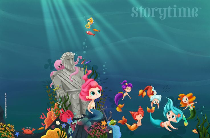 The Little Mermaid is the star of Storytime Issue 24 - our super summer special! Art by Martuka (http://www.martuka.com) Get it here: STORYTIMEMAGAZINE.COM