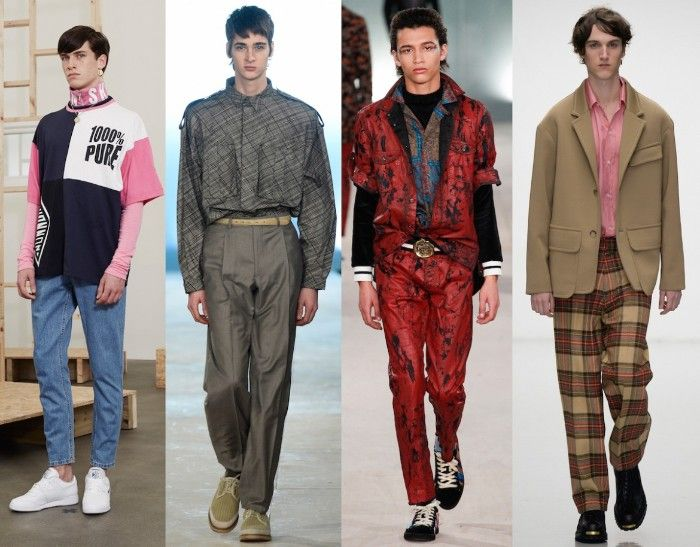 Preppy And Sporty Outfits Inspired By The 1980s Worn By Four Young Male Models 80s Costumes Men Oversized T S 80s Fashion Men 80s Fashion Fashion Clothes Women