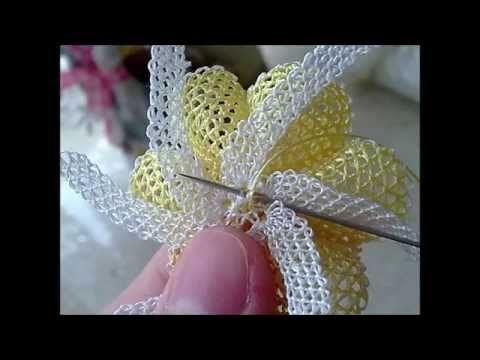 İğne oyası örgü takı yapılışı - YouTube