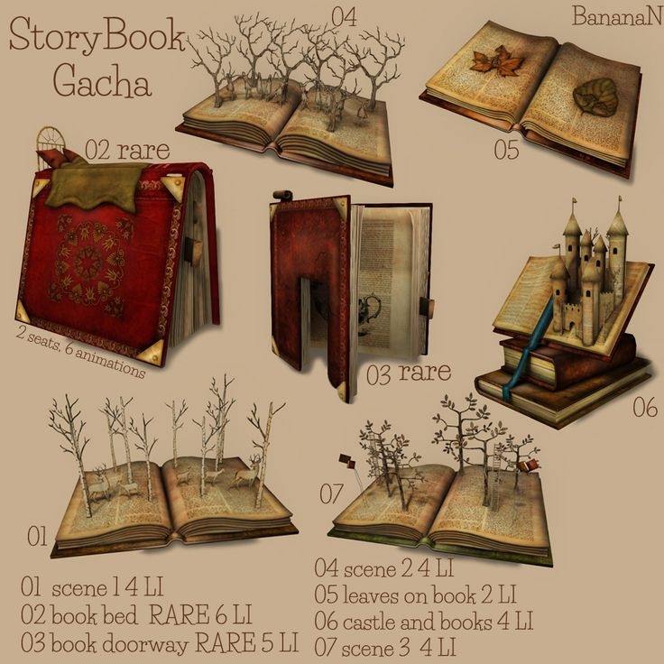 Storybook gacha - available @ second life - Gacha guardians event