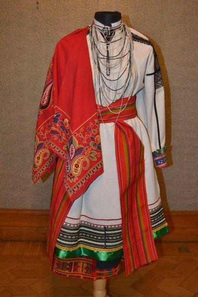 Женский праздничный костюм села Афанасьевка, Алексеевского района, Белгородской области (Бирючинский уезд)