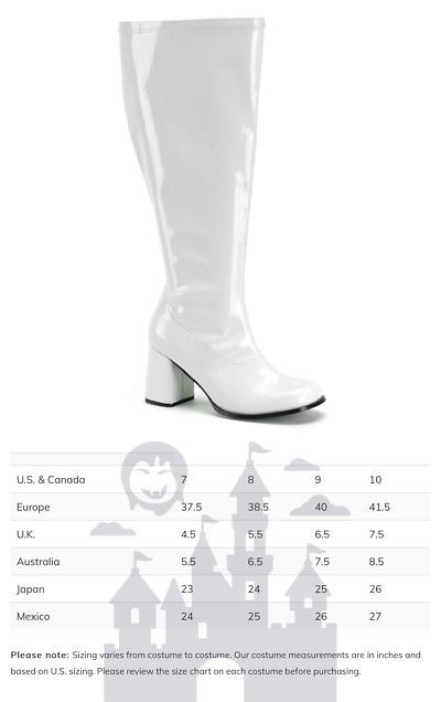8dd7167cecd Shoes and Footwear 155347  Womens White Wide Calf Halloween Gogo Boots -   BUY IT NOW ONLY   49.95 on  eBay  shoes  footwear  womens  white  halloween   boots