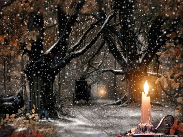 Yule candle, artist unknown