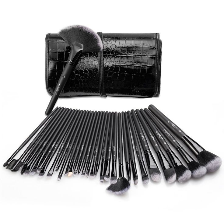 Makeup Brushes, USpicy Make Up Brush Set 32 Pieces Cosmetics Brushes Kit with Travel Pouch -- Check out this great image  : Travel essentials
