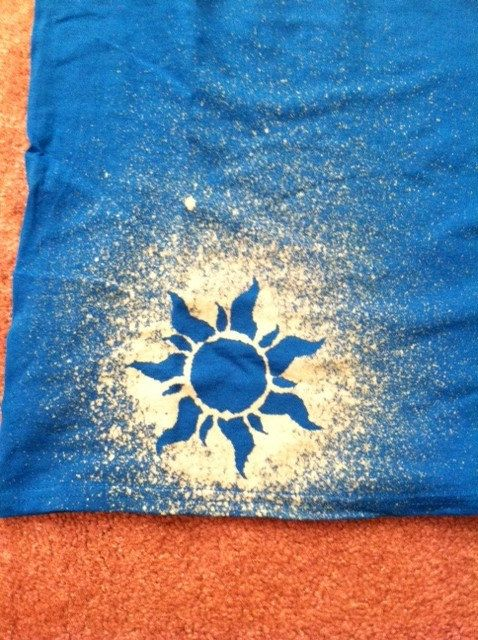 Disney's Tangled Sun - Want to do this to the back of my top for the Disney Princess half-marathon!