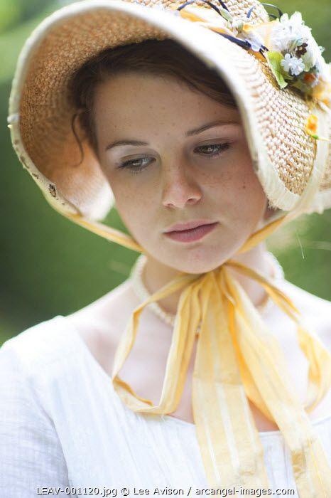 www.arcangel.com - portrait-of-a-girl-in-a-historical-bonnet