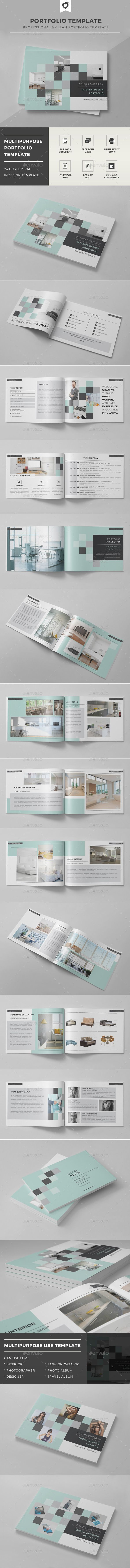 Portfolio Brochure Template #design #print Download: http://graphicriver.net/item/portfolio-template/11969753?ref=ksioks