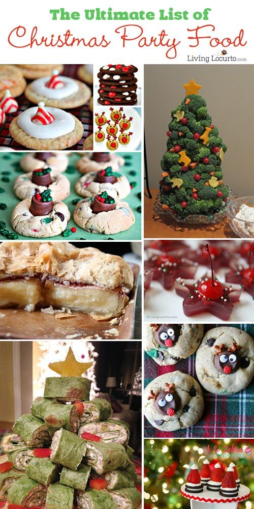 The Ultimate list of Christmas Party Recipes! Amazing desserts and appetizers for a holiday event. LivingLocurto.com