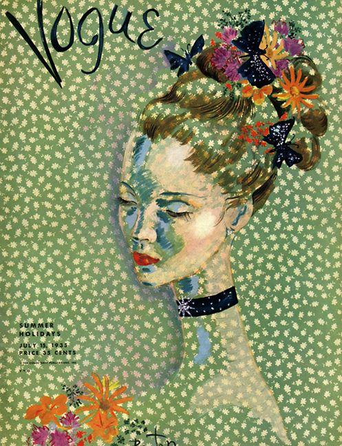 Vogue cover, 1935.                                                                                                                                                      Mais