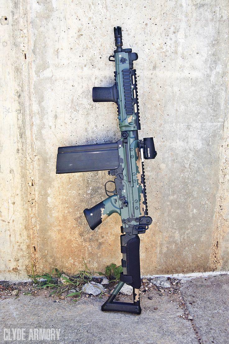 A select-fire DSA SA58-OSW |CLYDE ARMORY|
