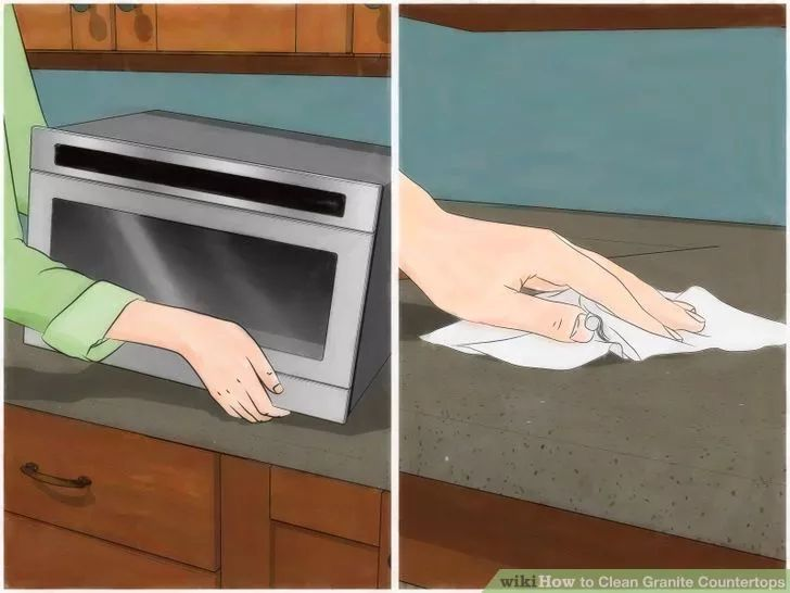 clean granite countertops wikihow to diy home pinterest. Black Bedroom Furniture Sets. Home Design Ideas