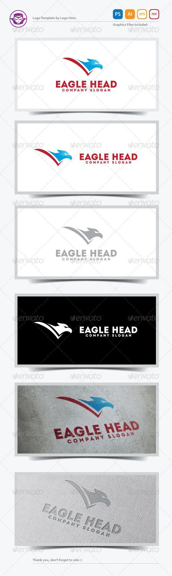 fir letter format%0A Eagle Head Logo Template